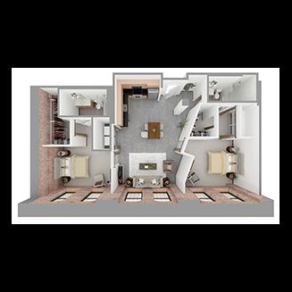 W2-B Floor plan layout