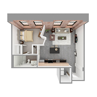 W1-B Floor plan layout