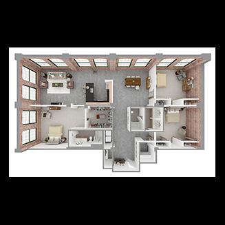 T3-B Floor plan layout