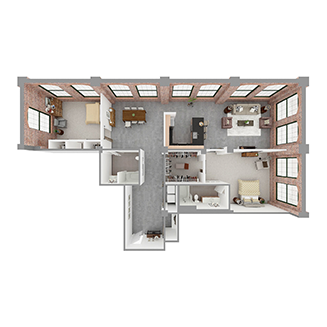 T2-B Floor plan layout