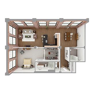 T1-A Floor plan layout