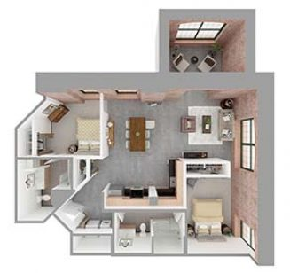 F2-B Floor plan layout