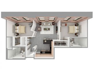 F2-A Floor plan layout