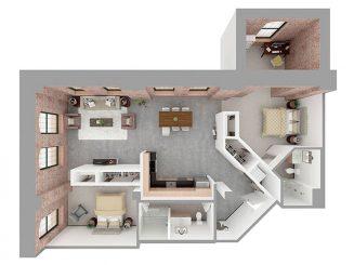 F2-C Floor plan layout