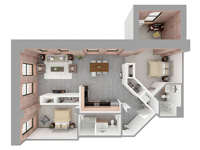 F2-C Floor plan layout