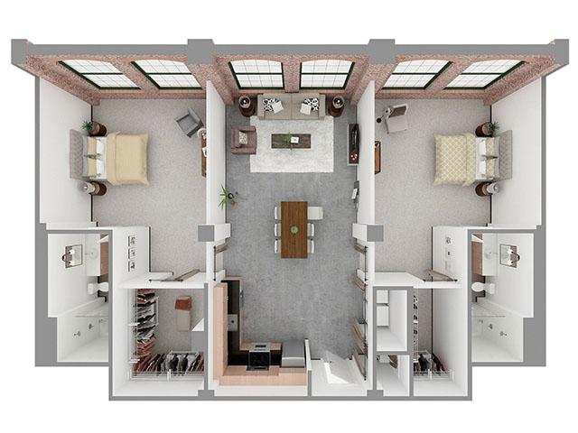 T2-A Floor plan layout