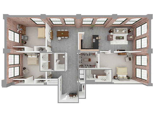 T3-A Floor plan layout