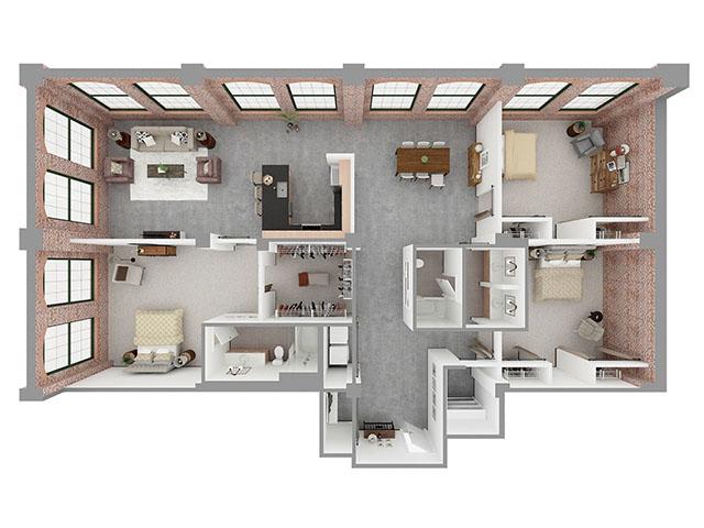 T3-B Floor plan layout