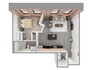 W1-B Floor plan layout