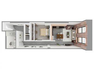W1-C Floor plan layout