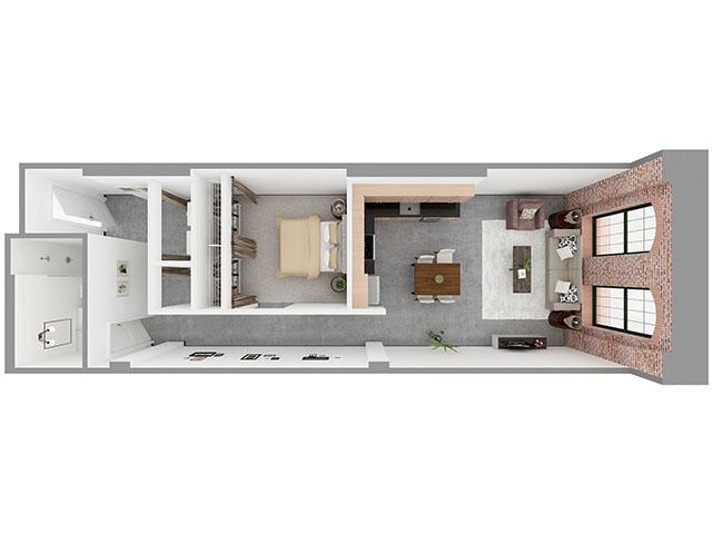 W1-D Floor plan layout