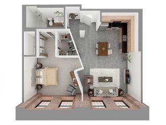 W1-E Floor plan layout