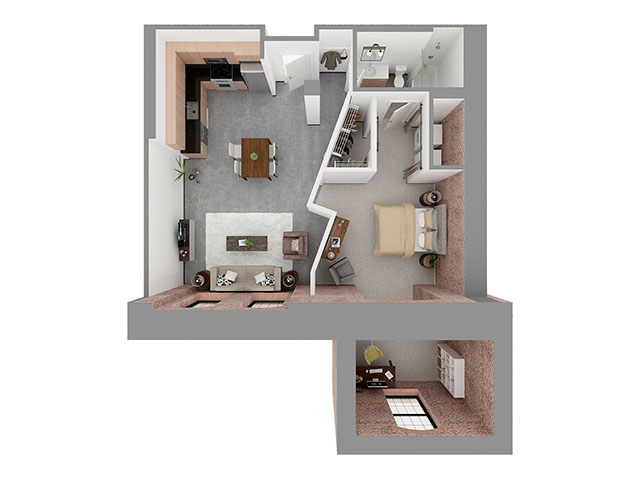 W1-G + DEN Floor plan layout