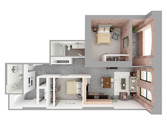 W2-A Floor plan layout