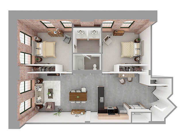 W2-F Floor plan layout